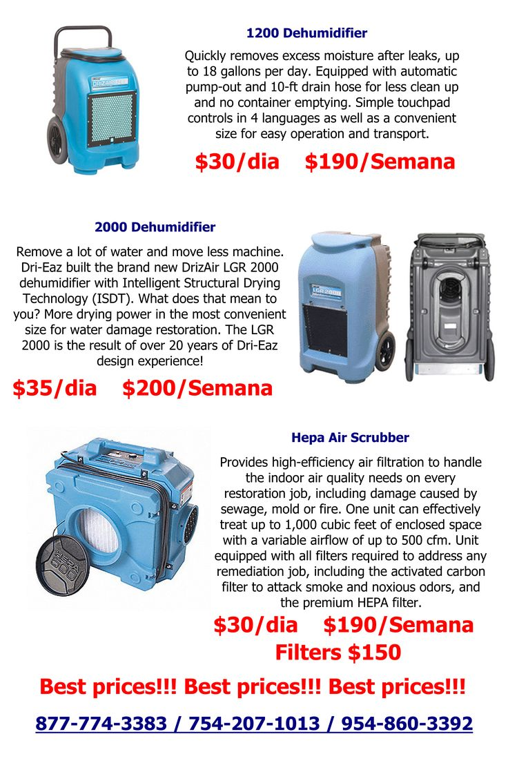 Best Prices for Restoration Equipment dehumidifier