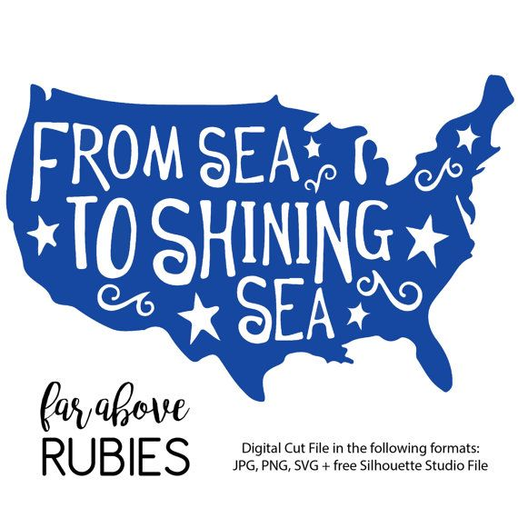 America From Sea to Shining Sea SVG JPG PNG by faraboverubies