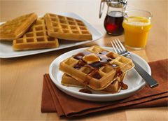 Aunt Jemima Waffle Recipe, because I always have to look it up after throwing the box away.