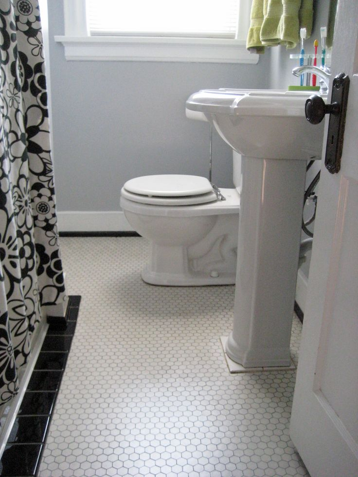 Maybe All White Hexagon Tile With Light Gray Grout W Dark