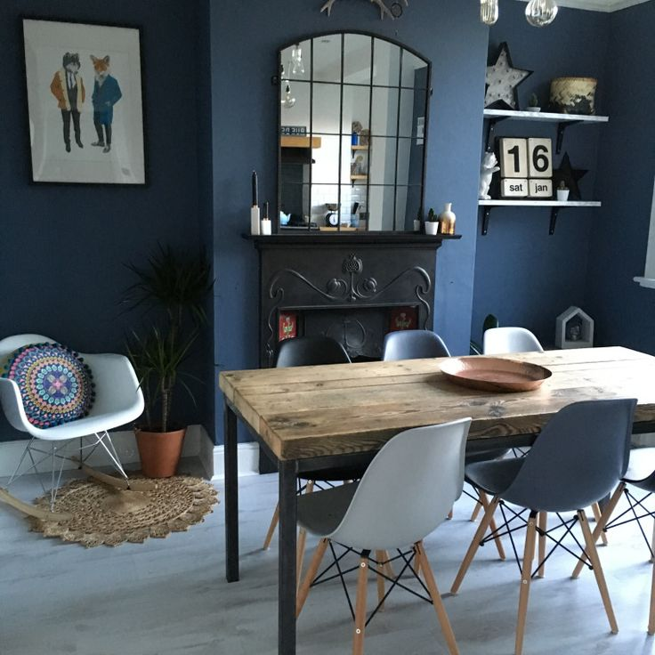 The Blue For Hall Little Greene Paint Company Juniper Ash Living Room