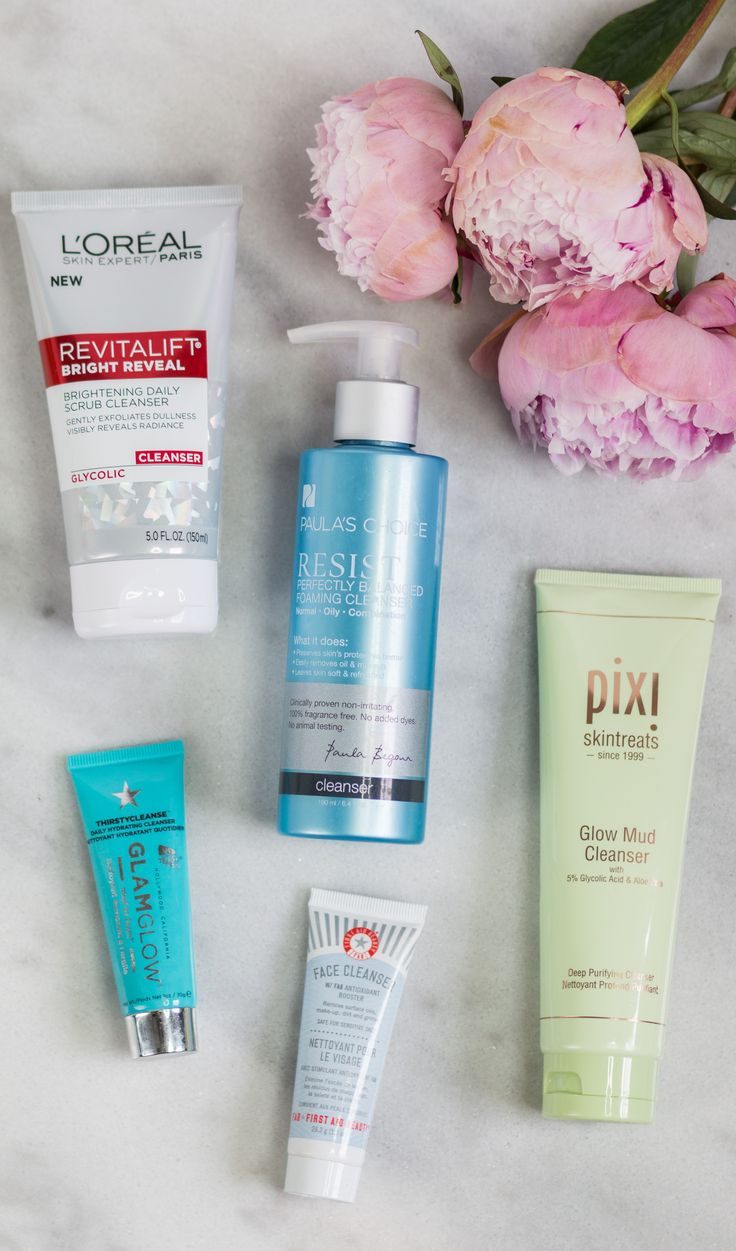 Best skincare products for women in their 20s - including the best face cleansers for every skin problem. Click through this pin to see the full post by beauty blogger Ashley Brooke Nicholas!
