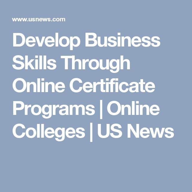 Develop Business Skills Through Online Certificate Programs | Online Colleges | US News