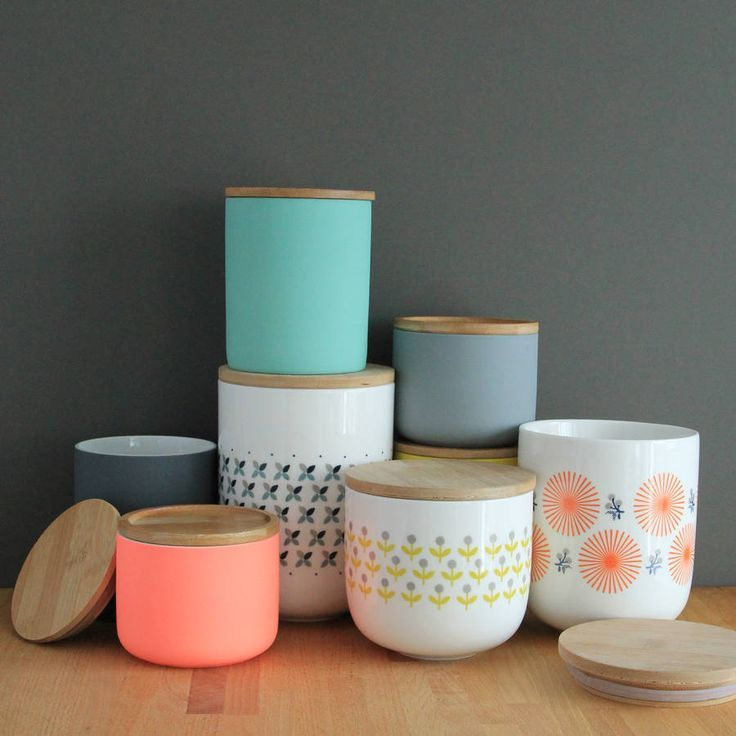 Colour pop canister to brighten up your kitchen future home decor pinterest pop - Pink tea and coffee canisters ...