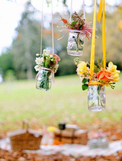 Hanging masons jars