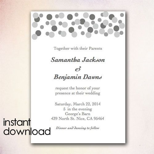 24 best DIY Wedding Invitation Templates - Instant Download images - microsoft word template invitation