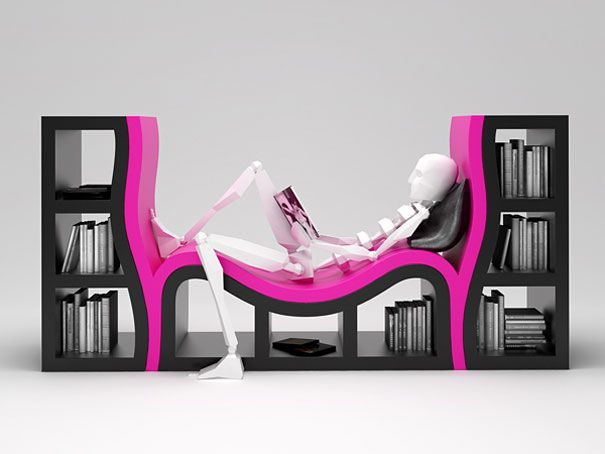 A bookshelf with a seat in it. Sold.