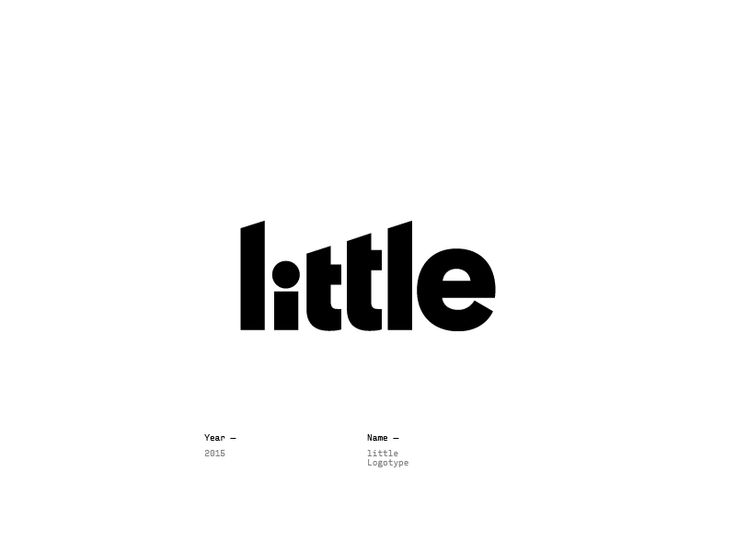Logo Design Inspiration - little by Radomir Tinkov