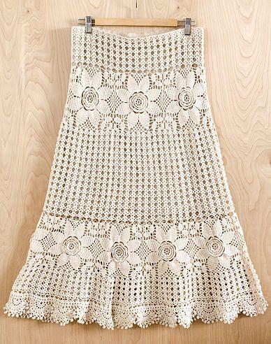 Irish Crochet Lab--boho skirt