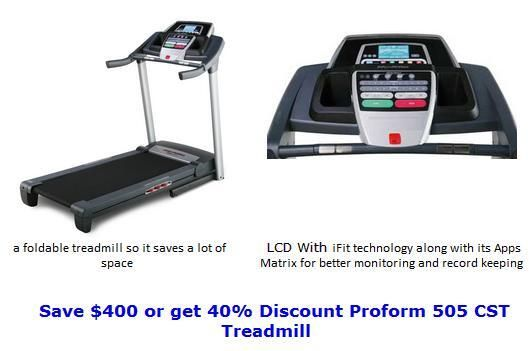 Proform 505 CST Treadmill For Sale with $400 Discount
