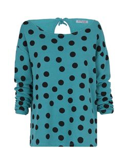 Polka dot terry sweater