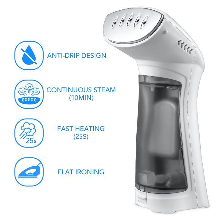 Travel Garment Steamers, iSiLER No Spitting Handheld Steamer With Stainless Steel Soleplate for Clothes, 25 Seconds Fast Heat-Up, Works at All Angles Portable Garment Steamer, Best Iron Alternative
