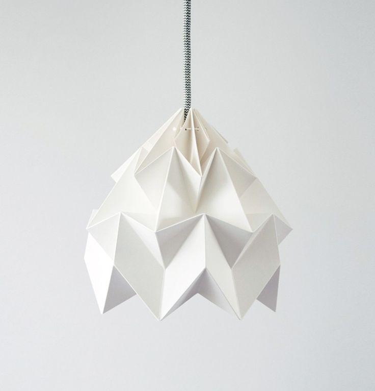 Studio Snowpuppe Moth XL paper origami lampshade - white - norsu interiors - 1