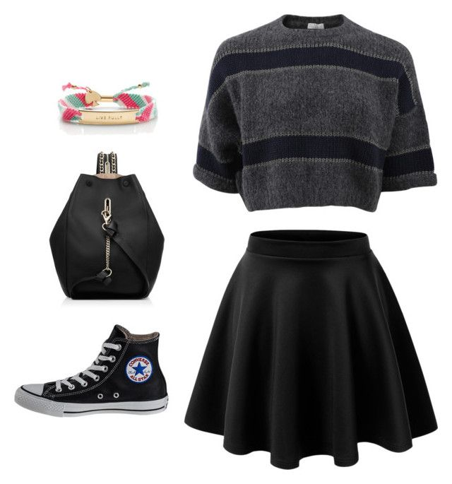 """""""Go #7"""" by riskisaumirf on Polyvore featuring Brunello Cucinelli, LE3NO, Converse, Kate Spade and Jimmy Choo"""