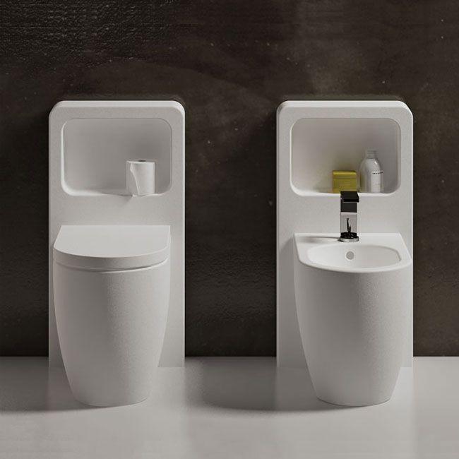 Back to wall wc colored Brina Smile - Water closet colored bathroom Ceramica Cielo