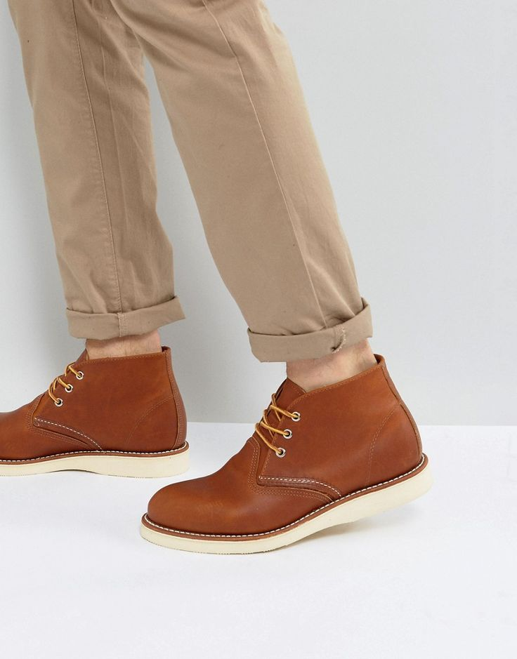 Get this Red Wing's cowboy boots now! Click for more details. Worldwide shipping. Red Wing Chukka Boots In Oro-iginal - Tan: Boots by Red Wing, Leather upper, Lace-up fastening, Contrast stitching, Contrast sole, Treat with a leather protector, 100% Real Leather Upper. Founding the Red Wing shoe company in 1905, Charles Beckman produced purpose-built work boots tough enough for the factory floor or construction site. Retaining the same Red Wing durability and quality, re-issued archive…
