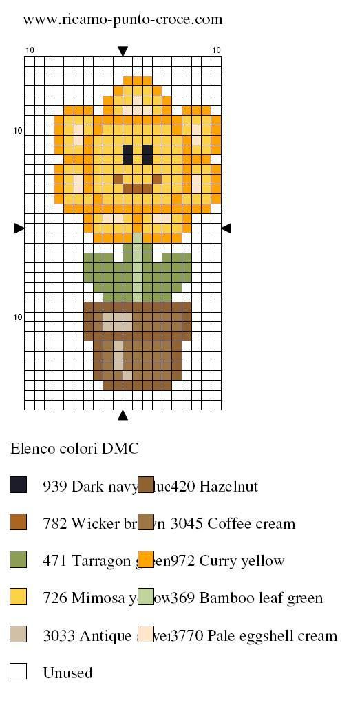 schema punto croce fiore 012