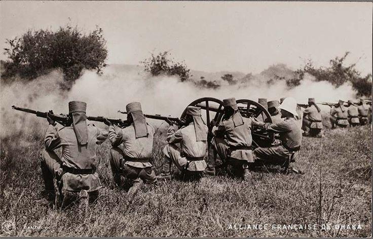 February 12, 1916 - Battle of Salaita Hill - German askaris in a firing line drill