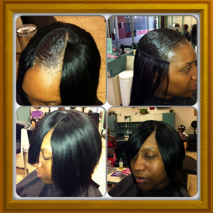 Full Head Quick Weave W/ Invisible Part....Designz By