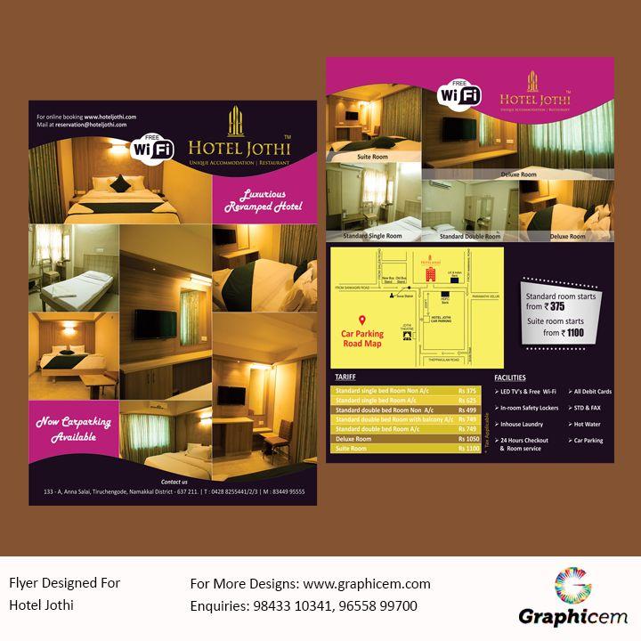 Flyer Designed For Hotel Jothi