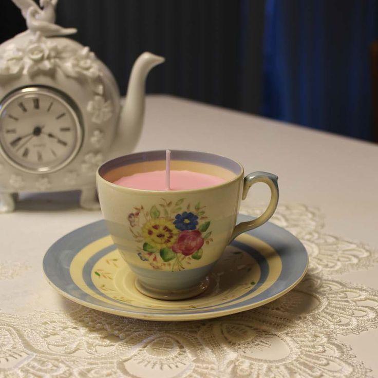 Teacup 0027 English Garden Scent  ~ Sandlewood, Ylang Ylang & Vanilla essential oils | Beautiful Daisy Designs