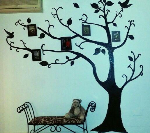 Arbol de la vida pintado en mi habitación