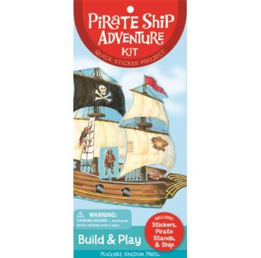 Quick Stickers - Pirate Ship - Bobangles #PeaceableKingdom #stickers #kids #pirate
