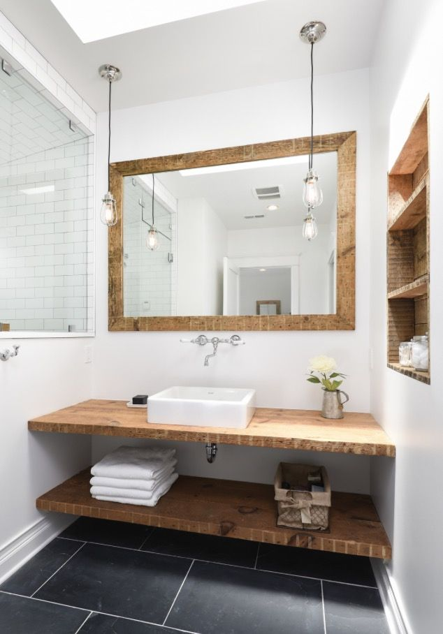 modern farmhouse cabin pendant lights and box sink