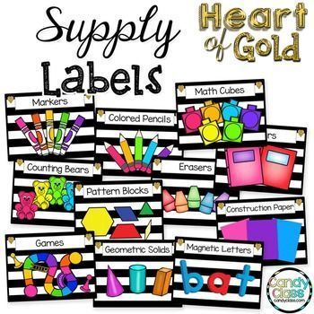 Supply Labels are a great way to add some environmental print to your classroom. $