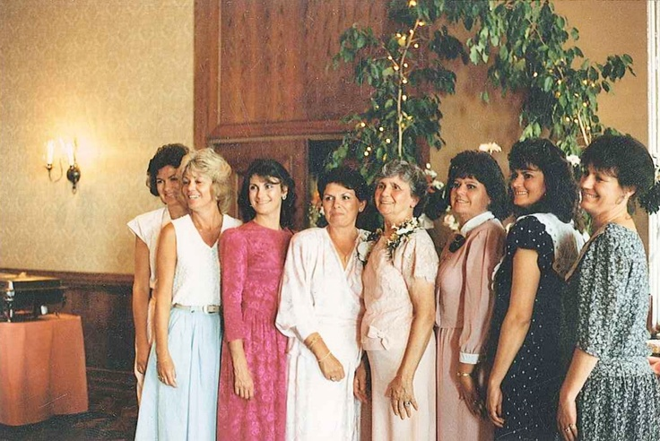 Family is very important to Kathy. This is her (3rd from the right), her mother, and ALL of her sisters! :)