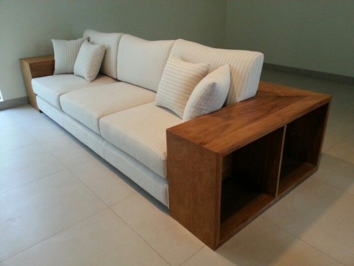 3 Seater Sofa With Storage   Solid Recycled Teak Wood