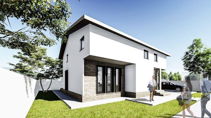 Proiect casa TURA. Parter + Mansarda | 4 camere | 136 mp. Mai multe detalii gasiti aici: http://uberhause.ro/proiect-casa-parter-plus-mansarda-136-m2-tura