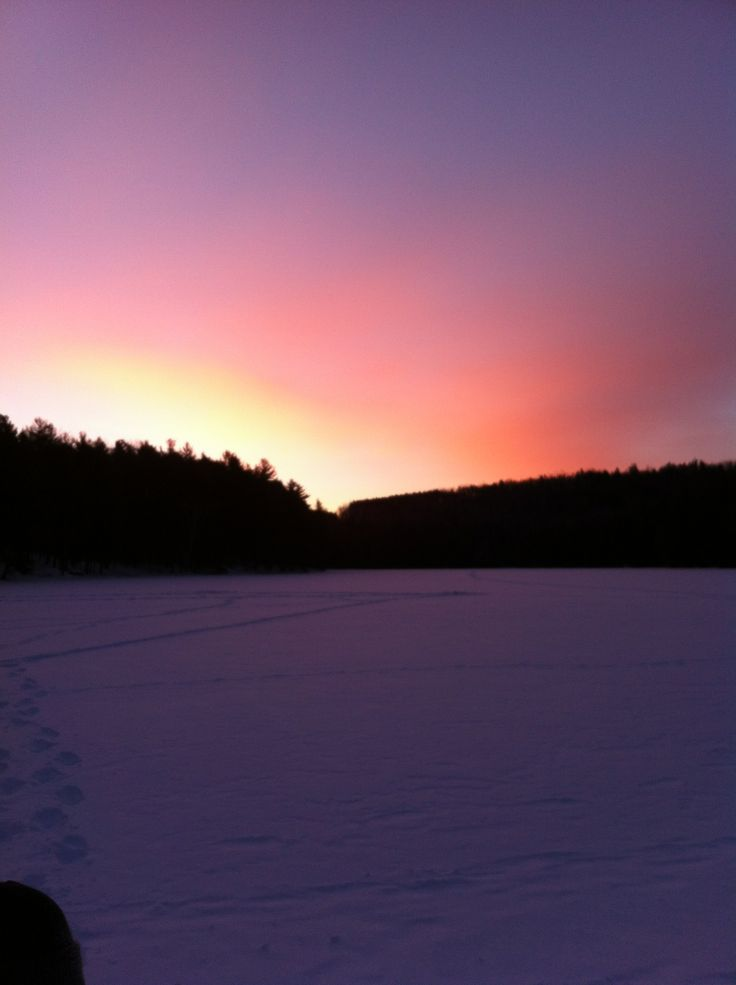 Ice Fishing Morning Sunrise