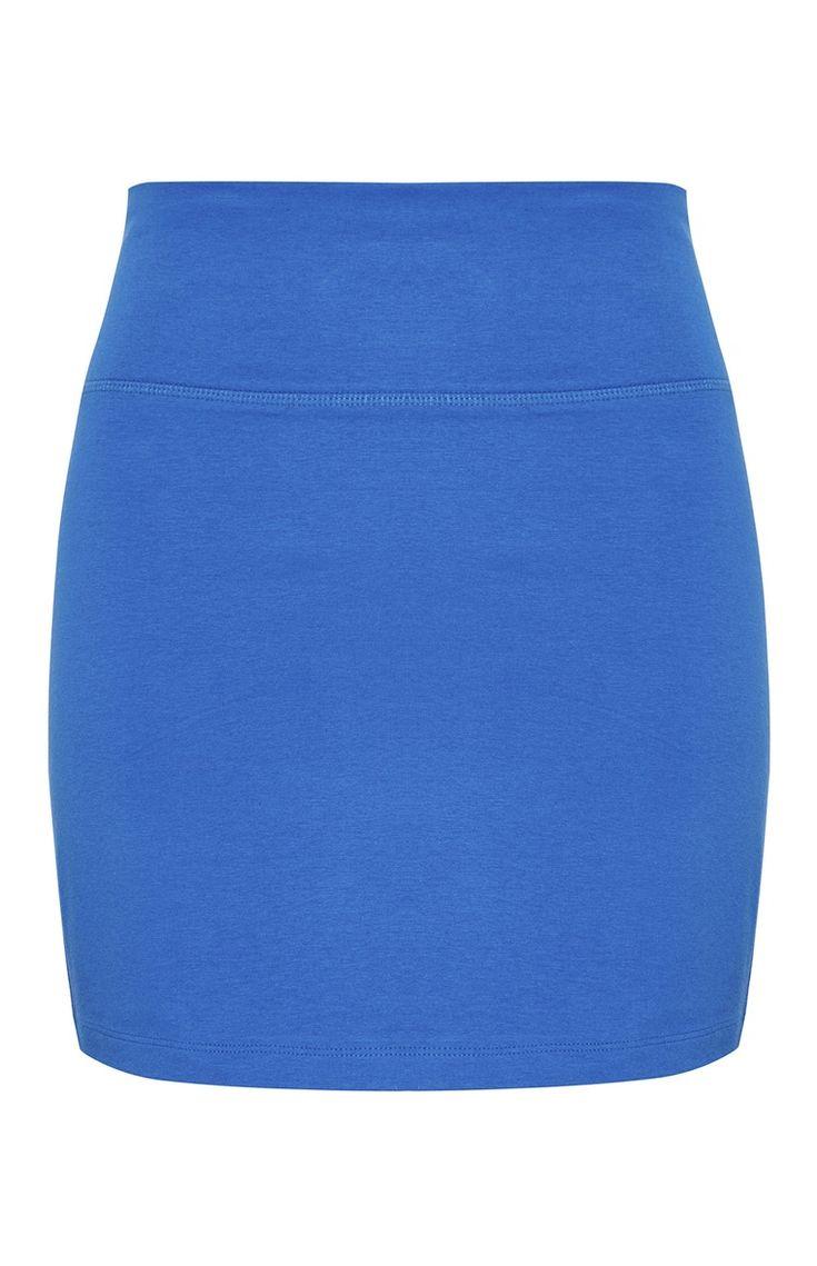 Mini-jupe bleu cobalt