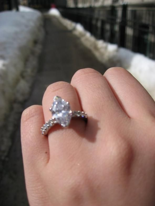 102 Best Marquise Engagement Rings Images On Pinterest