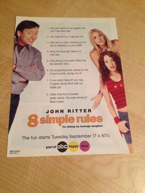 8 simple rules for dating my teenage daughter john ritter death