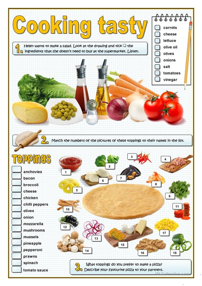 113 best esl vocabulary food images on pinterest english here you are three activities related to food and preferences first the students listen to a conversation about how to make a salad forumfinder Images