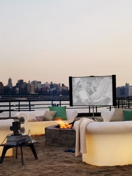 outdoor movies with a view. dreamy