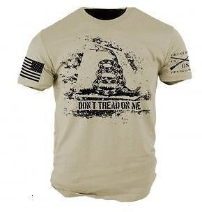Grunt Style Don't Tread On Me - Tan T-Shirt