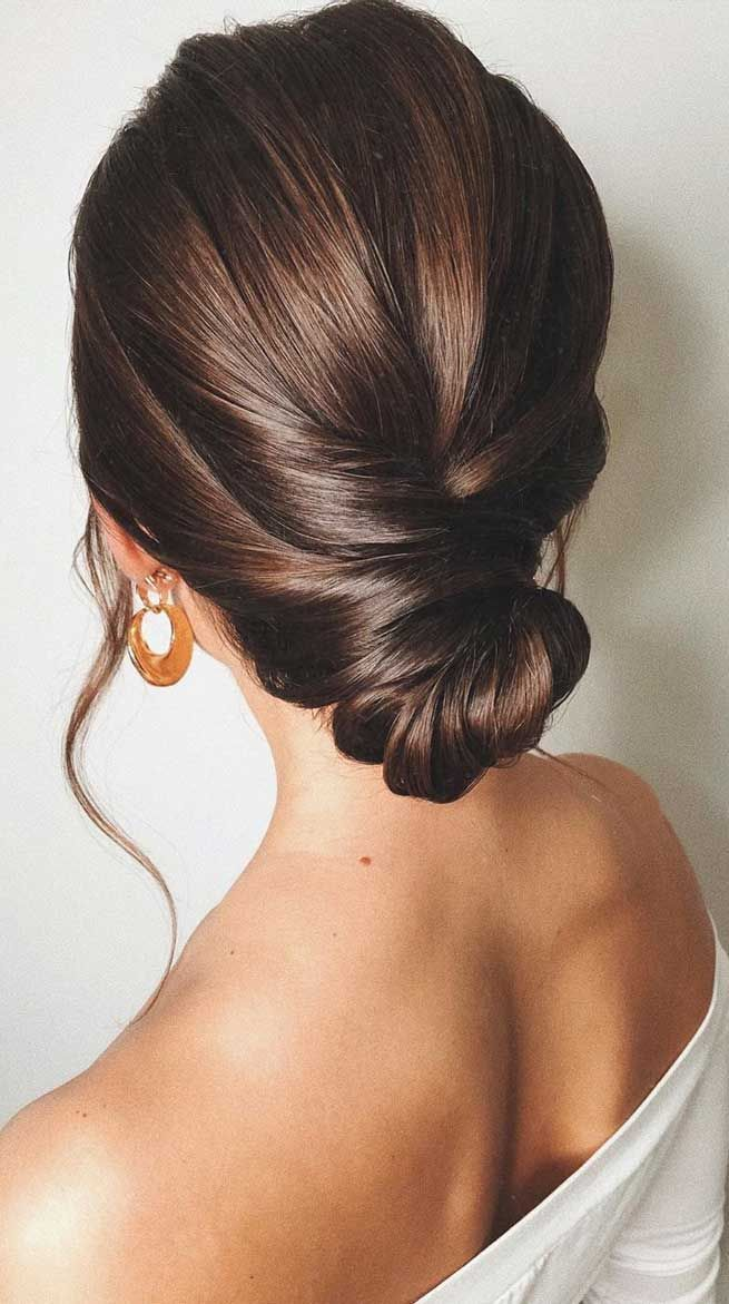 60 Gorgeous Wedding Hairstyles For Every Length In 2020 Sleek Wedding Updo Sleek Hairstyles Sleek Updo
