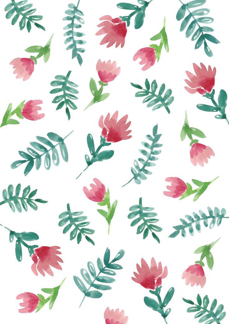 Botanical print // Sarah Jager Design #flowers #ferns #leaves