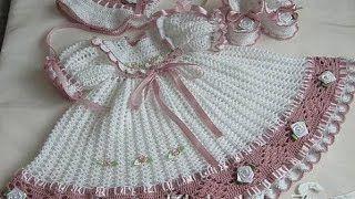 baby crochet dresses unique vintage - YouTube