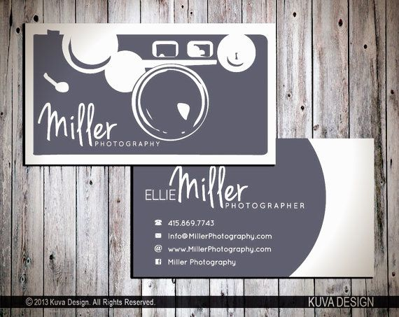 Photography Business Card Design by KuvaDesign on Etsy, $30.00 フォトグラファーらしい、デザインですね