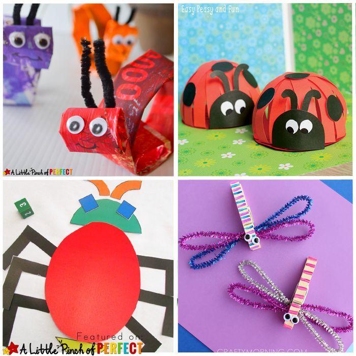 Meer dan 1000 afbeeldingen over preschool crafts op for Bugs arts and crafts