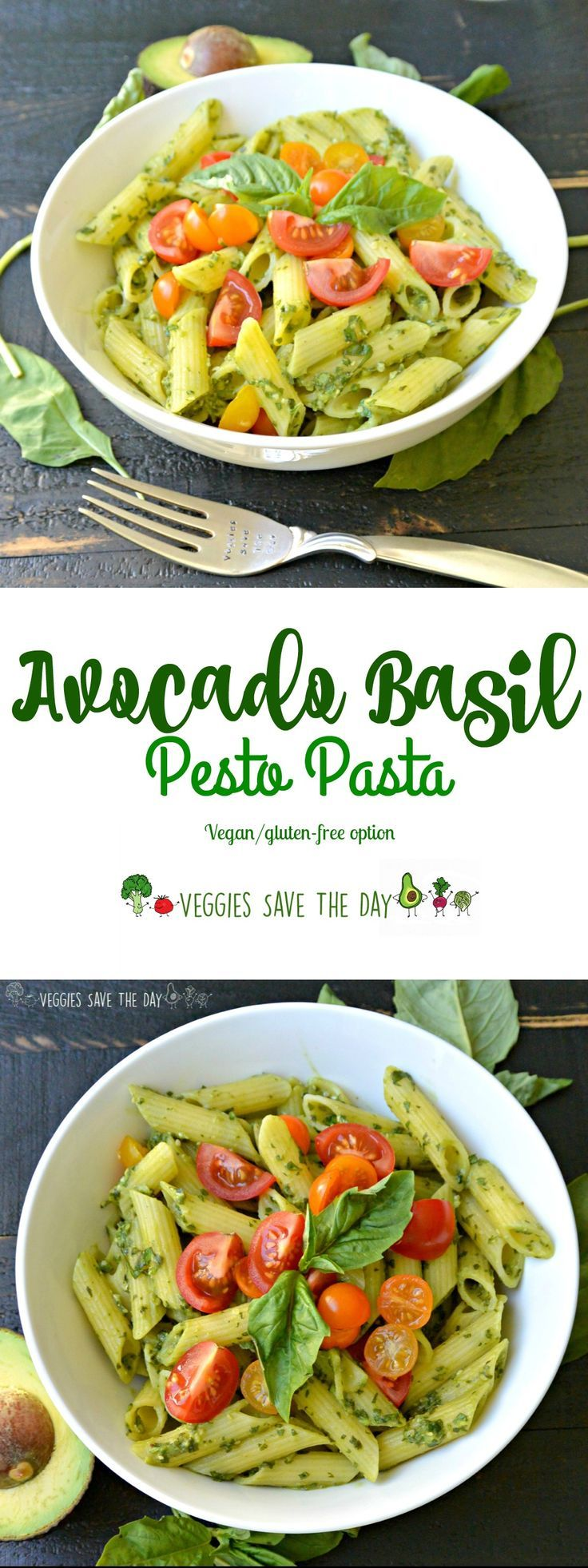 Avocado Basil Pesto Pasta takes only minutes to make and is flavorful and creamy without using any oil. It's delicious hot or at room…