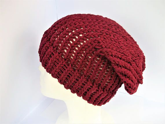 Check out this item in my Etsy shop https://www.etsy.com/uk/listing/529381387/red-slouchy-beanie-recycled-wool-beanie