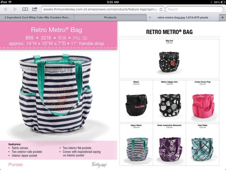 Thirty-One Spring 2014- Retro metro bag Http://www.mythirtyone.com/425550 Ohawarrior2002@gmail.com