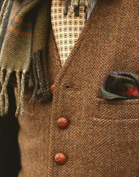 ♔ Tweed detail