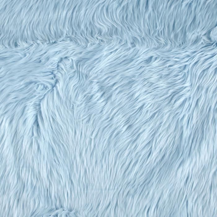 Faux Fur Luxury Shag Baby Blue from @fabricdotcom  This super soft high quality faux fur fabric has a 1 1/2'' long lustrous pile. It's perfect for stuffed animals, costumes, faux fur jackets and vests, pillows and throws.