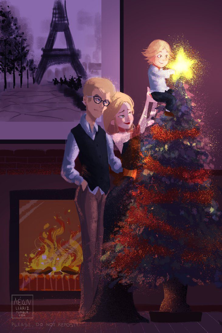 The family Christmas Adrien needs (by Leariz, Miraculous Ladybug)